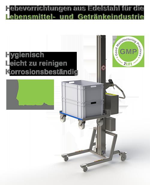 Fabulous Elektrischer Hebelift Edelstahl: Hygienisches Design, leicht reinigbar HZ83